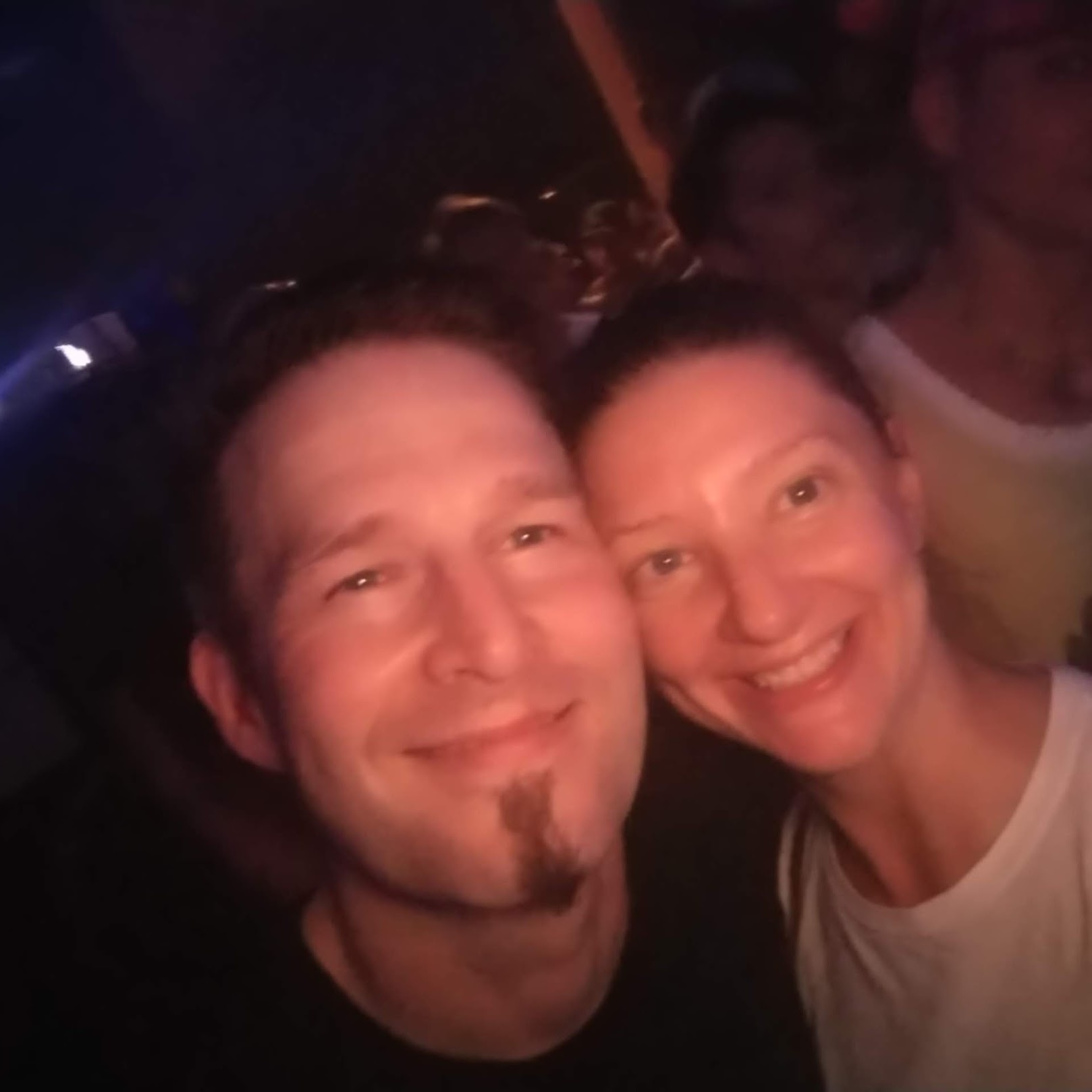 Dana Johnston owner of Gig Getaways with Darude